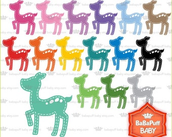 Buy 2 Get 2 Free ---- Digital Baby Bambi Clip Art ---- Personal and Small Commercial Use ---- BB 0710