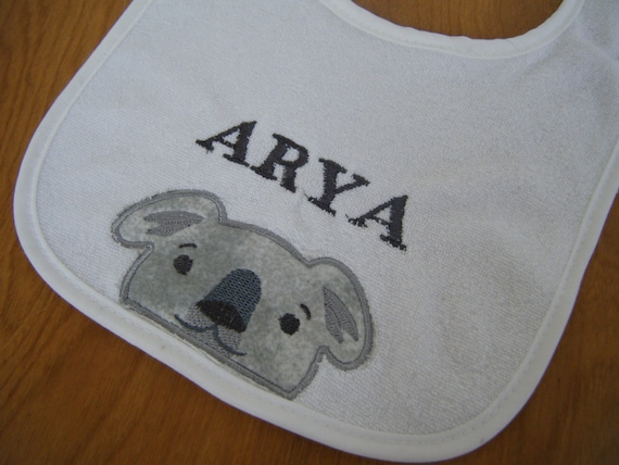 Monogrammed Baby Gifts Australia : Items similar to koala personalized bib australia baby