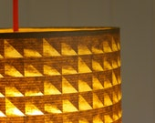 Geometric brown paper cut-out light shade