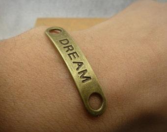 30PCS antique bronze 8x35mm dream bracelet charm connector- Wc5191