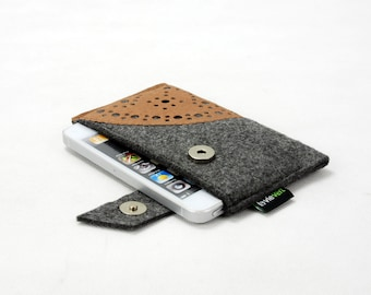 Felt Samsung Galaxy s3 s4 S5 S6 Case Sleeve Note 2 Note 3 Note 4 iPhone 6 Plus iPhone 6 5 5s 5c 4s 4 Bag Pouch Wallet with Kraft Paper E583