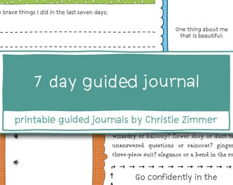 7 Day Printable Guided Journal