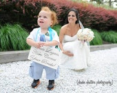 Malibu blue/ Turquoise Uncle... Here Comes Your Bride/ Girl Sign
