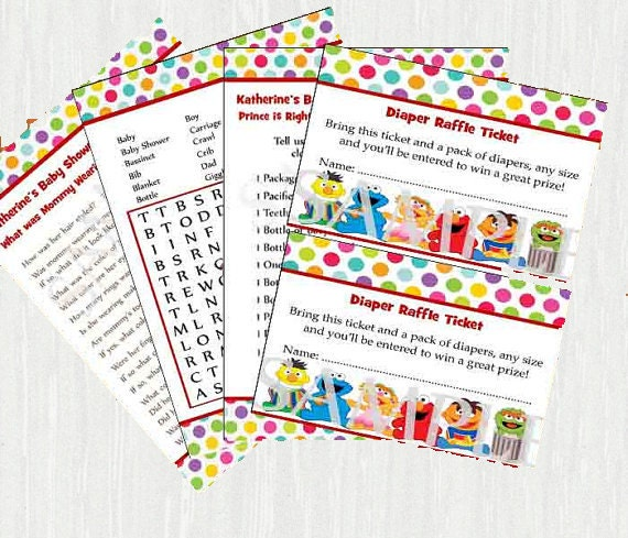 Sesame street baby shower games printable by moments2celebrate - Sesame street baby shower ...