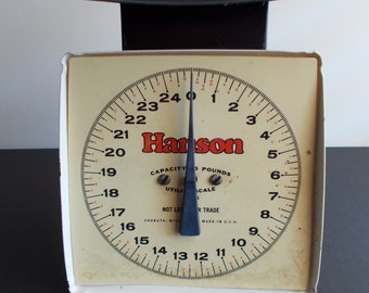 Antique 1940's Hanson Scale 25 lb Capacity -