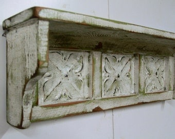 Antique Style Wall Shelf, Vintage Wall Shelf, Shabby Chic wall shelf, Victorian Shelf, Distressed, french country wall shelf, cottage chic