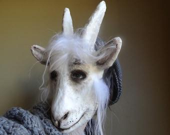 Masquerade mask goat head mask goat costume paper mache animal mask
