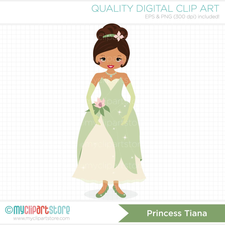 Princess Tiana Art: Frog Princess / Princess Tiana Clip Art / By MyClipArtStore