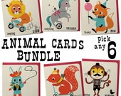 Animal Greeting card Bundle of 6