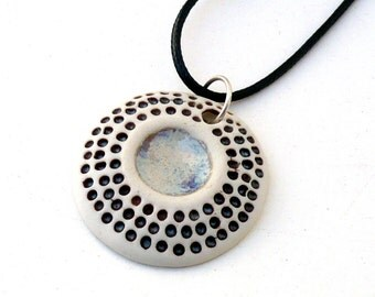 Porcelain Pendant, Ceramic necklace , Mothers day gift