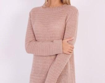 BIG SALE(65%) grunge crochet sweater dress