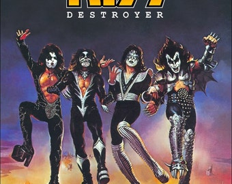 "KISS ""Destroyer"" Album Cover Stand-Up Display - Collectibles Collector Collection Memorabilia Gift Rock Band Music Poster Army Retro"