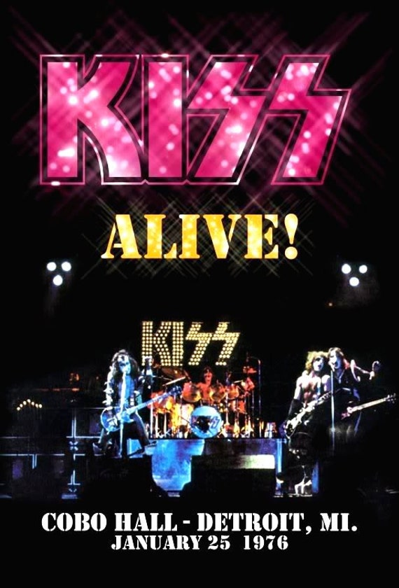 KISS Cobo Hall January 25th 1976 ALIVE Stand-Up Display