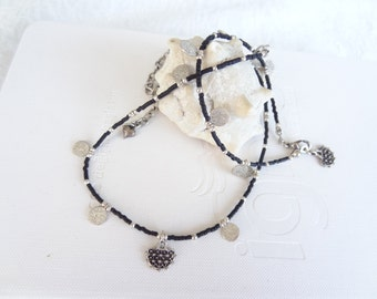 Black Luck Bracelet and Necklace Set