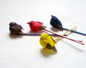 Bird Bobby pin - Woodland Wedding Hair Accessories- SET of 3 - Hippie Style-free gift-christmas in july