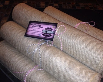 Burlap bundle of 8 runners 12 wide by 10 feet long for 10 foot table runner