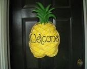 Burlap Pineapple Door Hanger