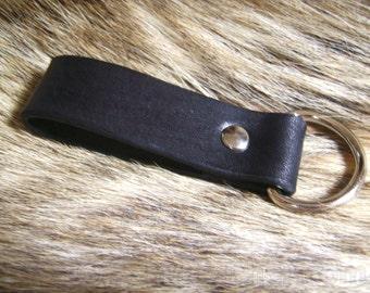 Belt Key Keeper, Black, Leather. Basic.  Belt Loop Key Holder