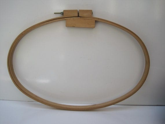 Vintage wooden embroidery hoop tambour frame hand