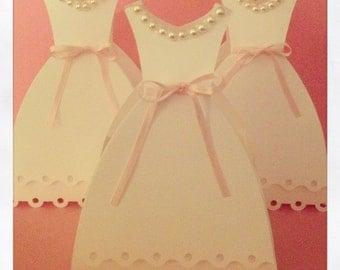Set of 10 Wedding Dress Favor Boxes