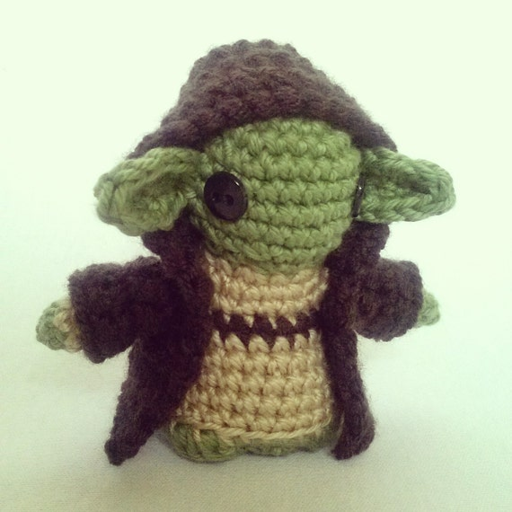 Amigurumi Mini Doll : Yoda mini amigurumi doll by wyandottewears on etsy