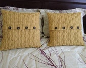 Hand knitted pillow case in autum maze, classic beautiful pattern, pillow not included