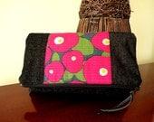 Fold over / Zipped Clutch - Camellia