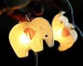 20 x white baby cute elephant fairy light indoor paper lantern handmade draw kid bedroom party gift