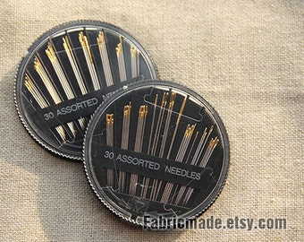 30 Hand sewing needles assorted size Gold Head Stitches Needle