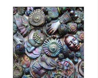 Faux Raku a PDF Coloring and Effects Tutorial by Janet Loomis of Anvil Artifacts