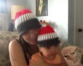 Matching parent/child beanies