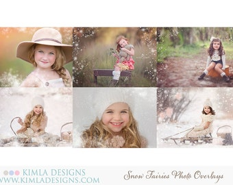 Snow Fairies Photo Overlays PSD and png files