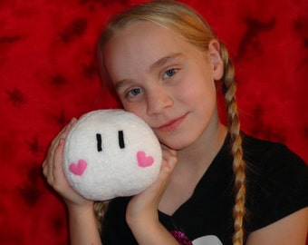 "Valentine Dango Pillow Toy 5""x6"" Cuddle Soft Fleece, Hand Crafted"