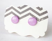 Purple Pastel Sparkly Tiny Studs. 10mm Posts.  Hand Painted