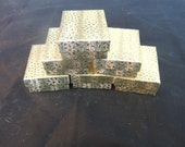 """Lot of 20 Gold Cotton Filled  Jewelry Boxes, Retail boxes, Gift boxes,favor boxes, 3.25"""" X 2.25"""" x1"""