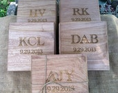 Groomsmen Gift ONE Cigar Box - Laser Engraved Name  - Stained and Personalized