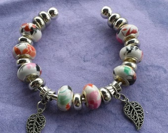 Shades of spring time, Euro style Bracelet