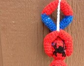 Crochet Pattern- Spiderman Upside Down Amigurumi Pattern