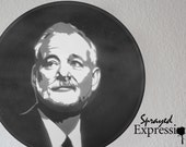 Bill Murray Vinyl Record Painting