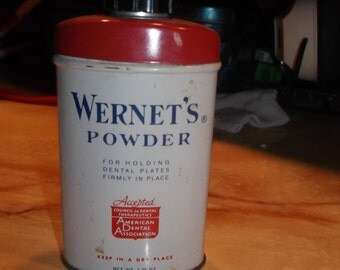 Vintage Wernet's Powder Tin