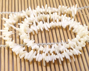 """Charm White Coral Branch Beads----3mm-10mm----about more 220Pieces----gemstone beads--16"""" in length"""