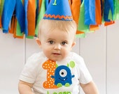 Monster Birthday Shirt - Personalized Birthday - Personalized Monster - Boy - Toddler - Baby