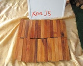 "Koa Hawaiian Pen Blanks Turning Wood Blanks (30) Total) Ave 6""  x 1"" x 1"" (#J5"