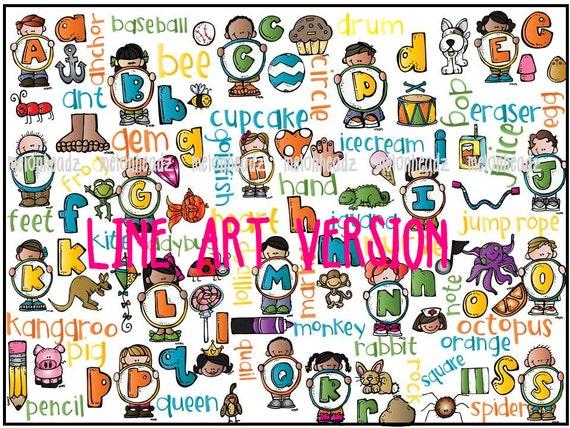One Line Letter Art : Mega alphabet clip art line