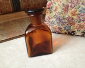Amber Glass Apothecary Bottle With Stopper