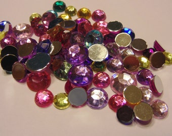 80 piece rhinestone mix, 8-11 mm