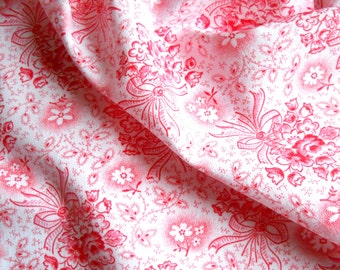 french vintage pink floral fabric french floral fabric antique pink french fabric vintage floral cotton fabric 137
