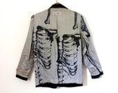 Jean Paul Gaultier Skeleton Print Black Vintage 80s Jacket