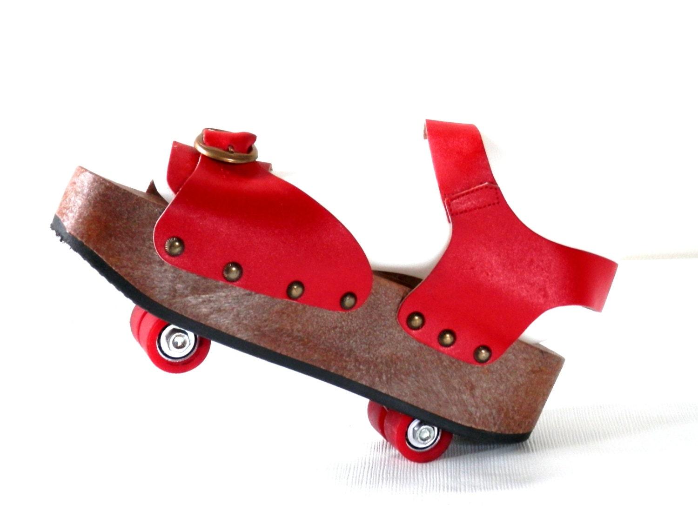 70 S Platform Roller Skate Shoes Pop Wheels By Omnia C Of