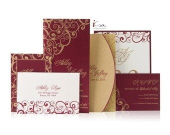 Custom Luxury Invitations - Laser Cut - Die Cu - Modern Invitations- Weddings and Special Occasions - Order Samples while supplies Last